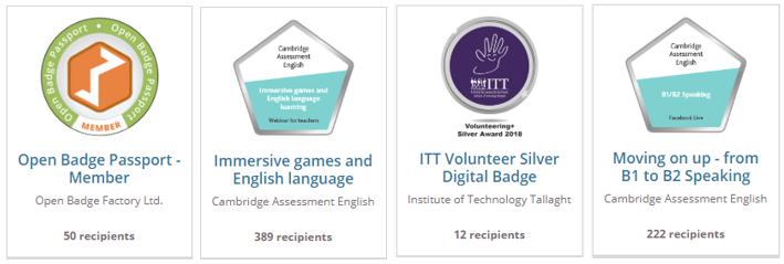 Open Badges make recognition visible