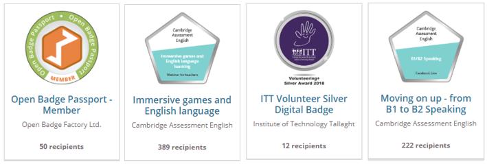 Open Badges make recognition visible
